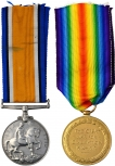 A Great First World War Medal pair Awarded to G H Gothard.