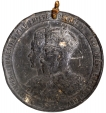 Pewter Medal of Jind State to Commemorate the Coronation at Delhi in 1911.