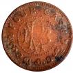 Copper Four Cash of Travancore of Bala Rama Varma II.