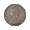 Copper Half Anna Coin of Victoria Empress of 1877.