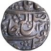 Silver One Rupee Coin of Daulat Rao of Ujjain Dar ul Fath Mint of Gwalior.
