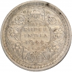Silver Half Rupee Coin of King George VI of Lahore Mint of 1944.