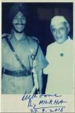 Autograph Photo Milkha Singh with Jawaharlal Neharu.