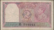 Two Rupees Note of KG VI Signed by C. D. Deshmukh of 1943.