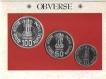 UNC Set of Sardar Vallabhbhai Patel Set of 3 Coins of 1996.