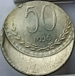Off Center Strike Error 50 Paise coin of 1976 Republic India