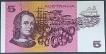 Five Dollars Bank Note of Australia of 1967-1972.