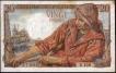 Twenty Francs Bank Note of France.