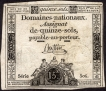Rare Fifteen Sols Bank Note of France.