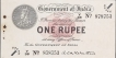 One Rupee Banknote of King George V Signed by AC McWatters.