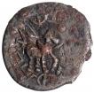 Silver Drachma Coin of Yaudheyas of Bahudhanyaka type.