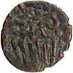 Copper Kasu Coin of Sundara Pandya I of Pandyas of Madurai.