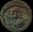 Copper Base Alloy Coin of Vishnukundin Dynasty of Swastika