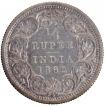 Silver Quarter Rupee Coin of Victoria Queen of 1862.
