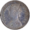 Silver Two Annas Coin of Victoria Empress of 1895.