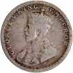 Silver Half Rupee Coin of King George V of 1918.