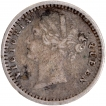 Silver Two Annas Coin of Victoria Queen of 1841.