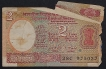Error Two Rupees Banknote Signed by I.G. Patel of 19680.