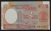 Error Two Rupees Banknote Signed by R.N. Malhotra of 1988.