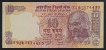 Error Ten Rupees Banknote Signed by Y.V. Reddy of 2006.