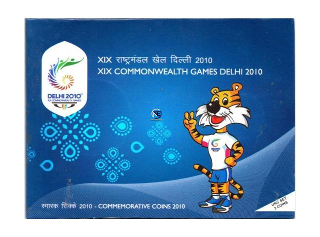 UNC Set of XIX Commonwealth Games Coins of 2010.