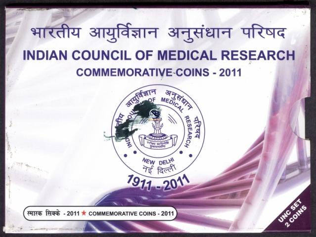 2011 UNC Set of Centenary of Indian Council of Medical Research.