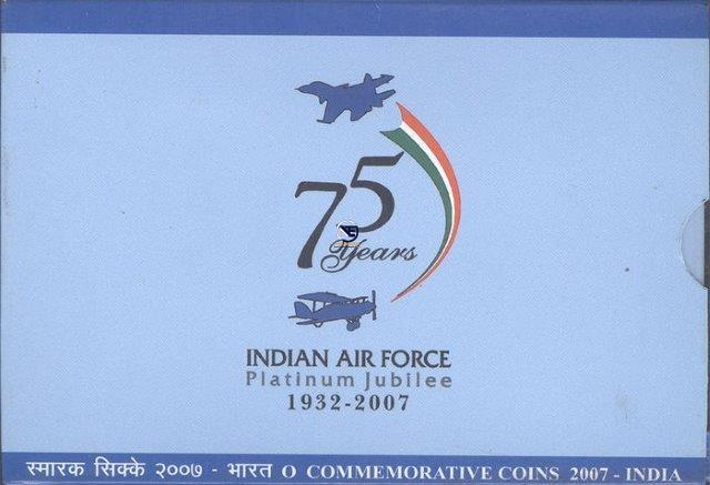 2007 Proof Set of Platinum Jubilee of Indian Air force.