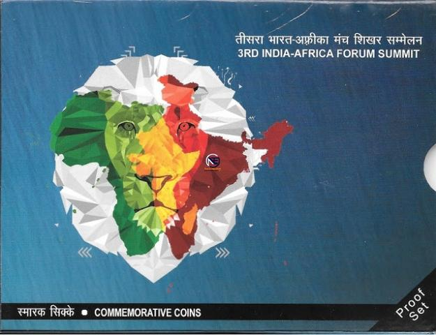 2015 Proof Set of 3rd India Africa Forum Summit.